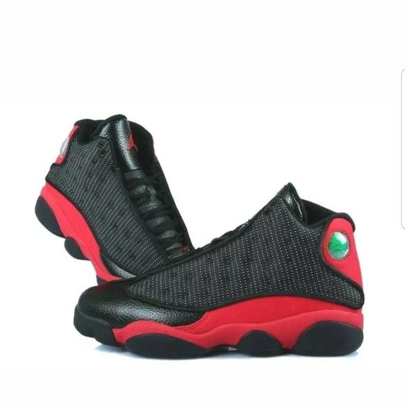 new styles dcc08 2fd35 Nike Air Jordan XIII 13 Retro BLACK RED Sneakers